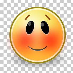 Smiley Blushing Emoticon Emoji PNG