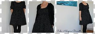 Little Black Dress Polka Dot Fashion Sleeve PNG