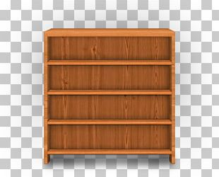 Shelf Wood Stain Bookcase Chest Of Drawers PNG