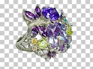 Lilac Jewellery Ring Amethyst Purple PNG