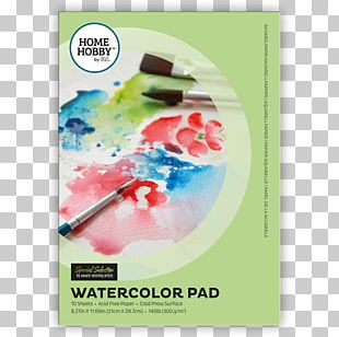 Paper Watercolor Painting Art 水彩色鉛筆 Poster PNG