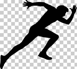 Silhouette Running Sprint PNG