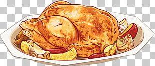 Barbecue Roast Chicken Steak Dish PNG