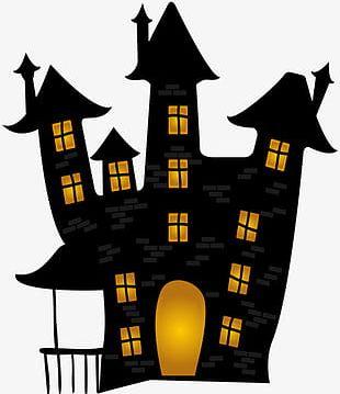 Creative Halloween Haunted Castle PNG