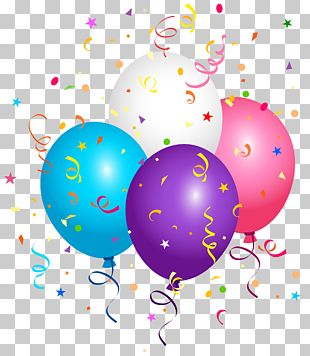 Confetti Balloon Paper PNG