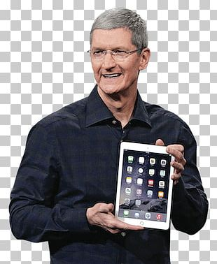 Tim Cook Holding An Ipad PNG