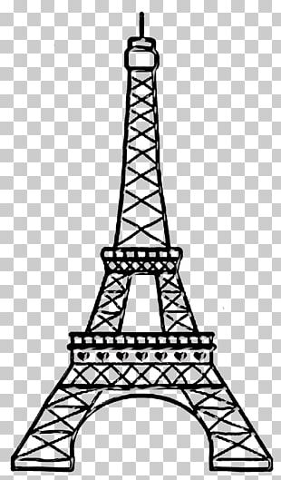 Eiffel Tower Paper Drawing PNG