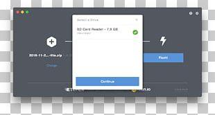 Etcher Installation USB Flash Drives Raspberry Pi Raspbian PNG