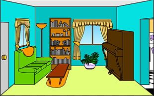 Living Room Drawing Interior Design Services PNG