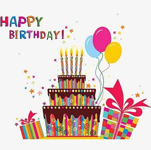 Cartoon Birthday Cake Celebration Dinner PNG