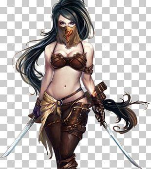 The Woman Warrior Fantasy Desktop PNG