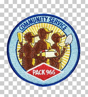 Scouting Organization Community Service Badge PNG