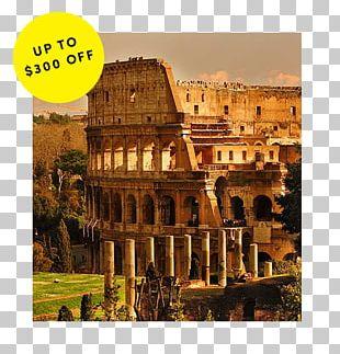 Colosseum Roman Forum Palatine Hill Pantheon Painting PNG