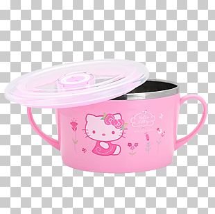 Hello Kitty Bowl Instant Noodle Mess Kit PNG