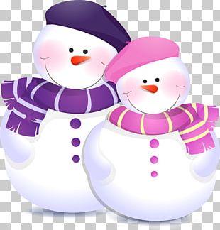 Snowman Child Christmas PNG