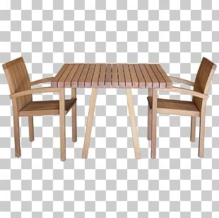 Table Garden Furniture Chair Wood PNG
