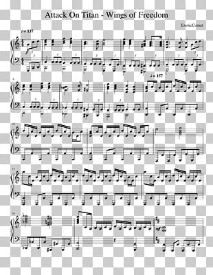 Sheet Music A.O.T.: Wings Of Freedom Sherlock Holmes Piano PNG