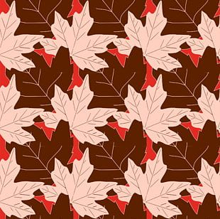 Autumn Leaf Color Maple Leaf Pattern PNG