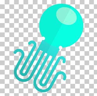 Jellyfish Logo Mockup PNG