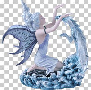 Fairy Figurine Statue Dragon Legendary Creature PNG