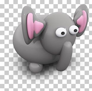 Pink Heart Elephants And Mammoths Snout PNG