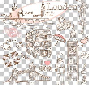 London Paris Drawing PNG