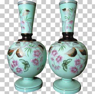Vase Bristol Blue Glass Decorative Arts PNG