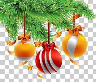 Christmas Decoration Gold Orange PNG