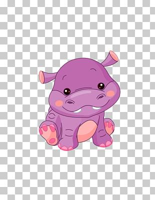 Hippopotamus Cartoon PNG