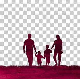 Family Silhouette Divorce PNG
