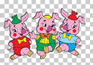 The Three Little Pigs Fairy Tale Зайка-Зазнайка Gray Wolf Children's Literature PNG