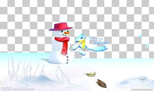 Winter Snowman Romance PNG