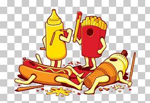 Ice Cream Hamburger Hot Dog French Fries Fast Food PNG