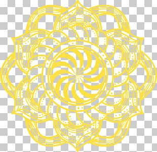 Mandala Yellow Flowers PNG