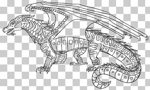 Wings Of Fire The Dark Secret Coloring Book Line Art PNG