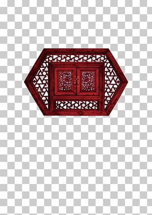 China Window Wood Carving PNG