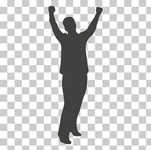 Silhouette Man Thumb PNG