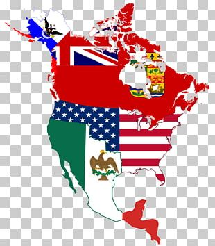 Flag Of The United States Map Flags Of North America PNG