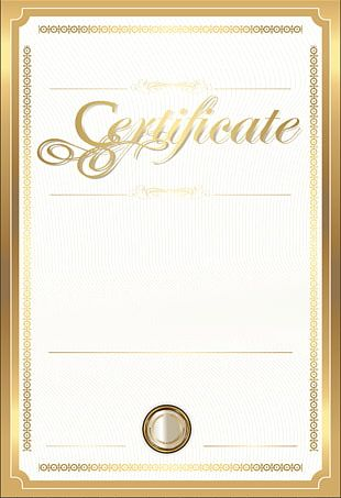 Paper Academic Certificate Gold Certificate PNG