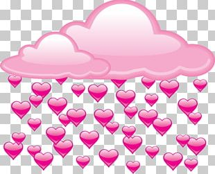 Rain Cloud Heart PNG