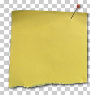 Paper Yellow Post-it Note Memorandum Material PNG