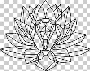 Crystal Cluster Drawing Nelumbo Nucifera Tattoo PNG