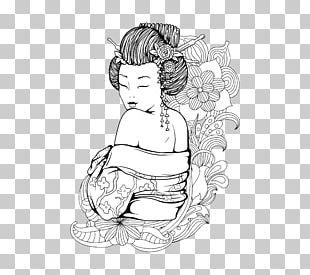 Geisha Illustration PNG