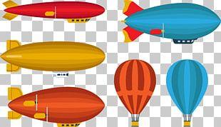 Hot Air Balloon Airplane Airship Balloon Rocket PNG