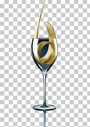 White Wine Wine Glass PNG