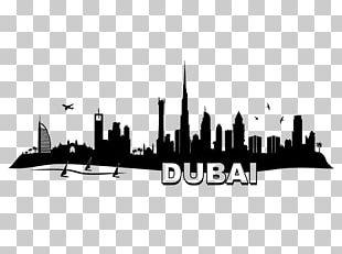 Dubai Skyline Wall Decal Sticker New York City PNG
