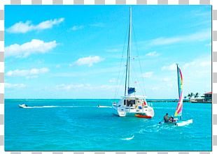 Dinghy Sailing Catamaran Saba Rock PNG