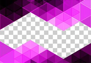 Purple Triangle Mosaic Background PNG