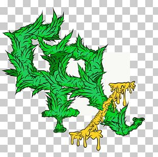 Dragon Flowering Plant Line PNG