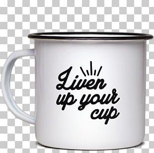 Coffee Cup Mug Vitreous Enamel Saucer PNG